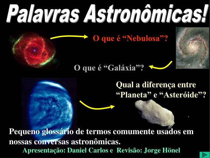 Palavras Astronômicas