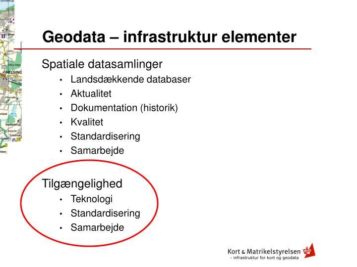 Geodata – infrastruktur elementer