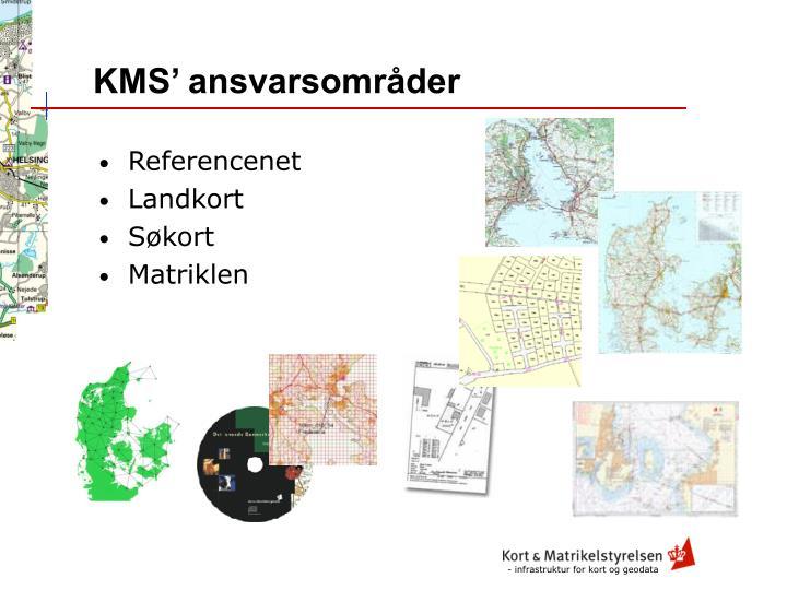 KMS' ansvarsområder
