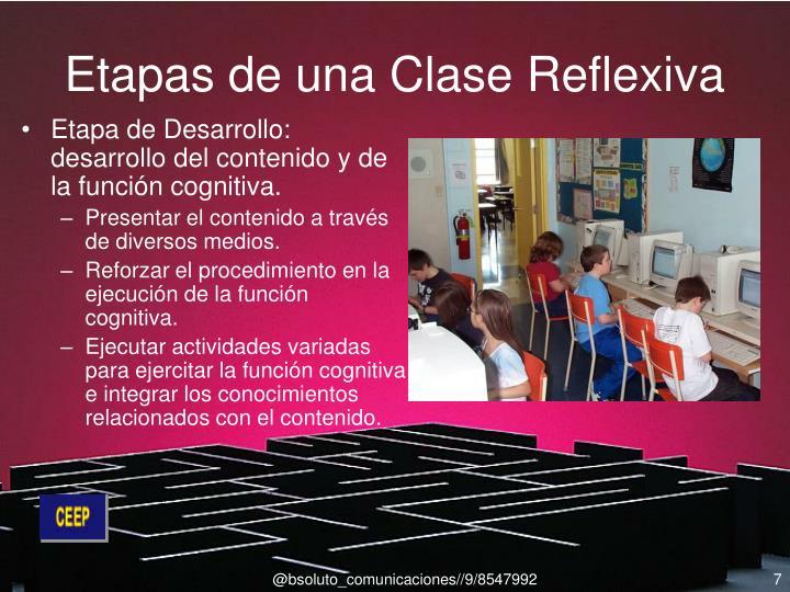 Etapas de una Clase Reflexiva
