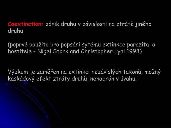 Coextinction: