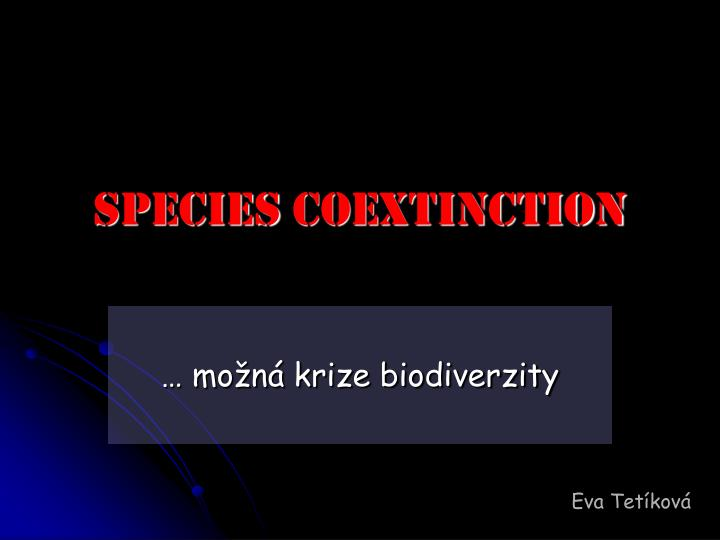 Species coextinction