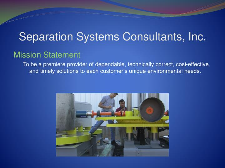 Separation systems consultants inc