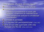 distal radial physeal stress injury