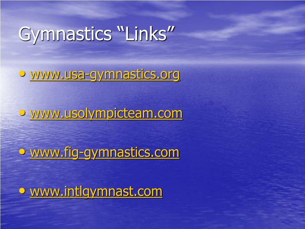 "Gymnastics ""Links"""