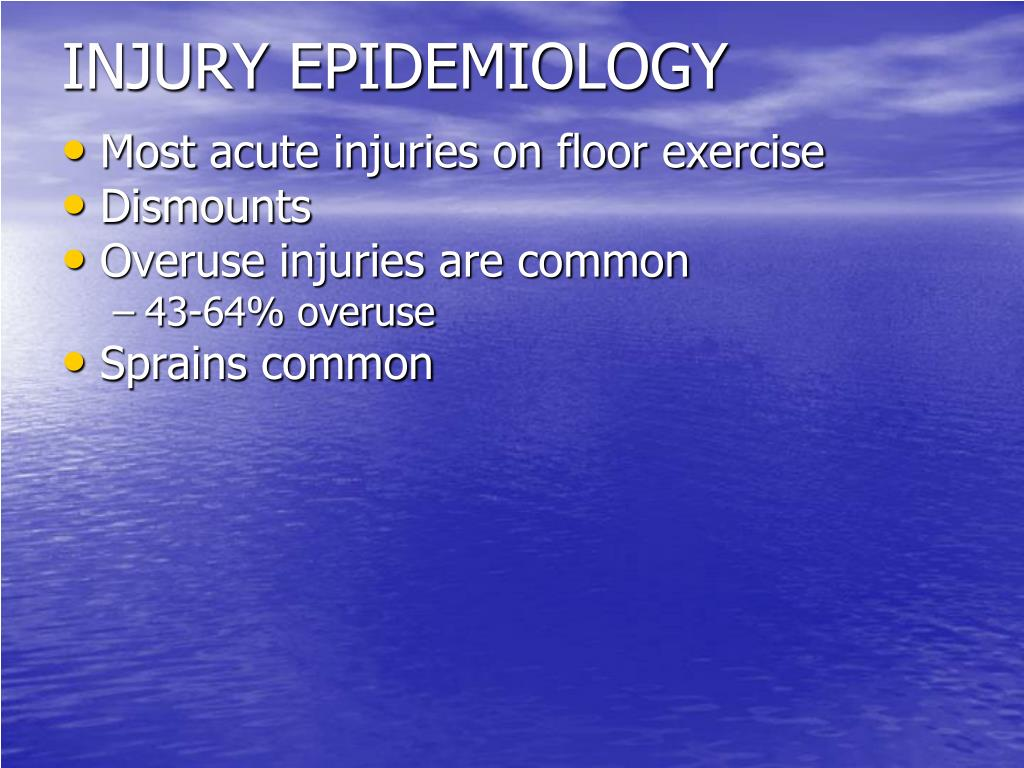 INJURY EPIDEMIOLOGY
