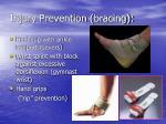 injury prevention bracing