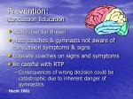 prevention concussion education