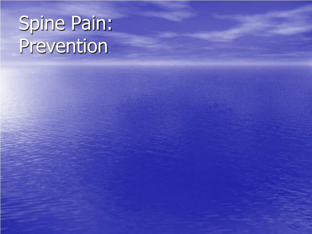 Spine Pain: