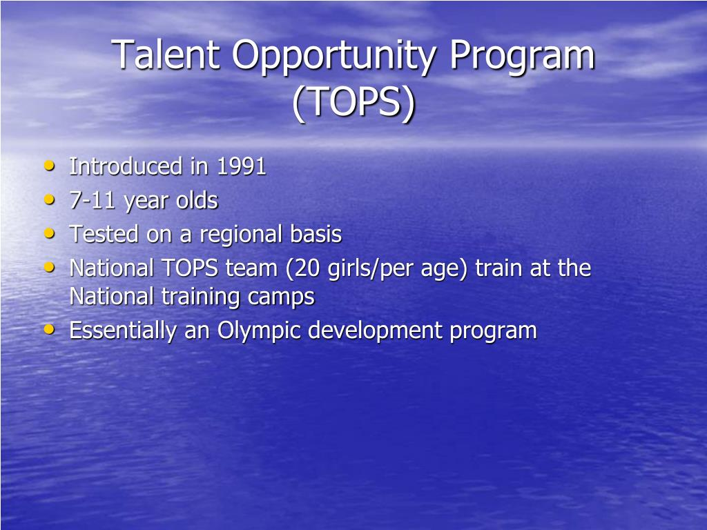 Talent Opportunity Program