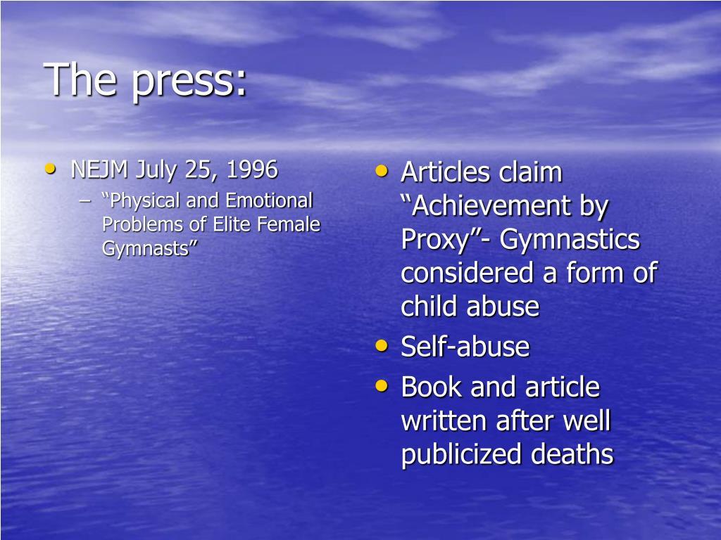 The press: