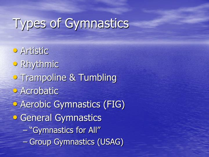Types of gymnastics