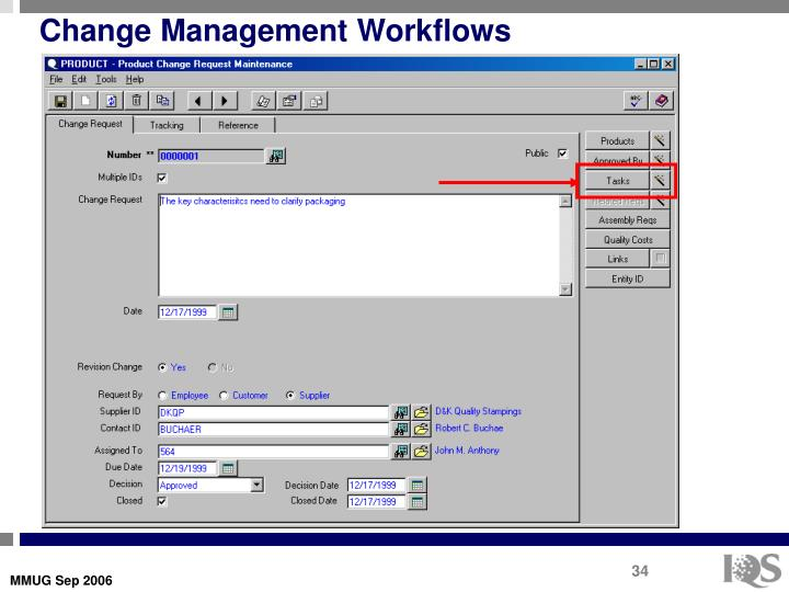 Change Management Workflows