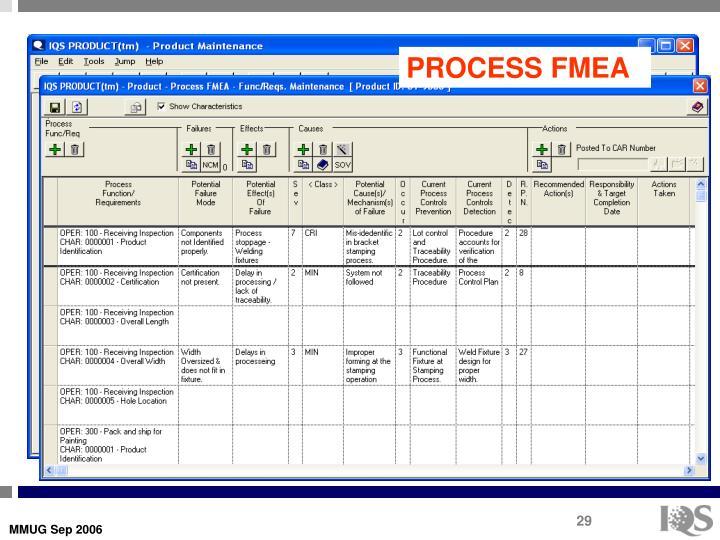 PROCESS FMEA