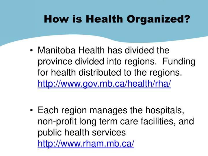 How is Health Organized?