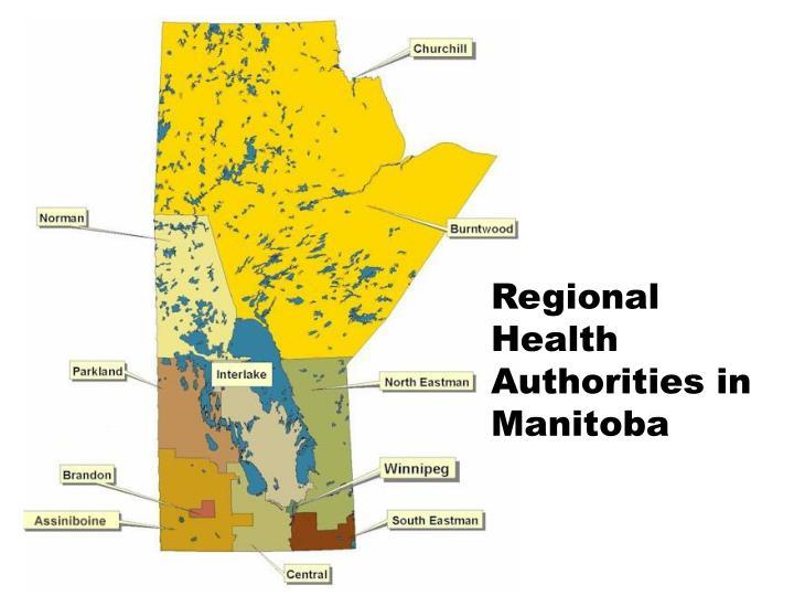 Regional Health Authorities in Manitoba