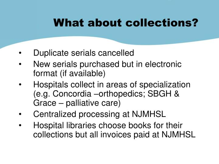 What about collections?