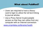what about pubmed