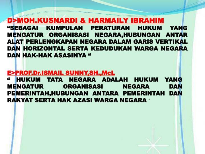D>MOH.KUSNARDI & HARMAILY IBRAHIM