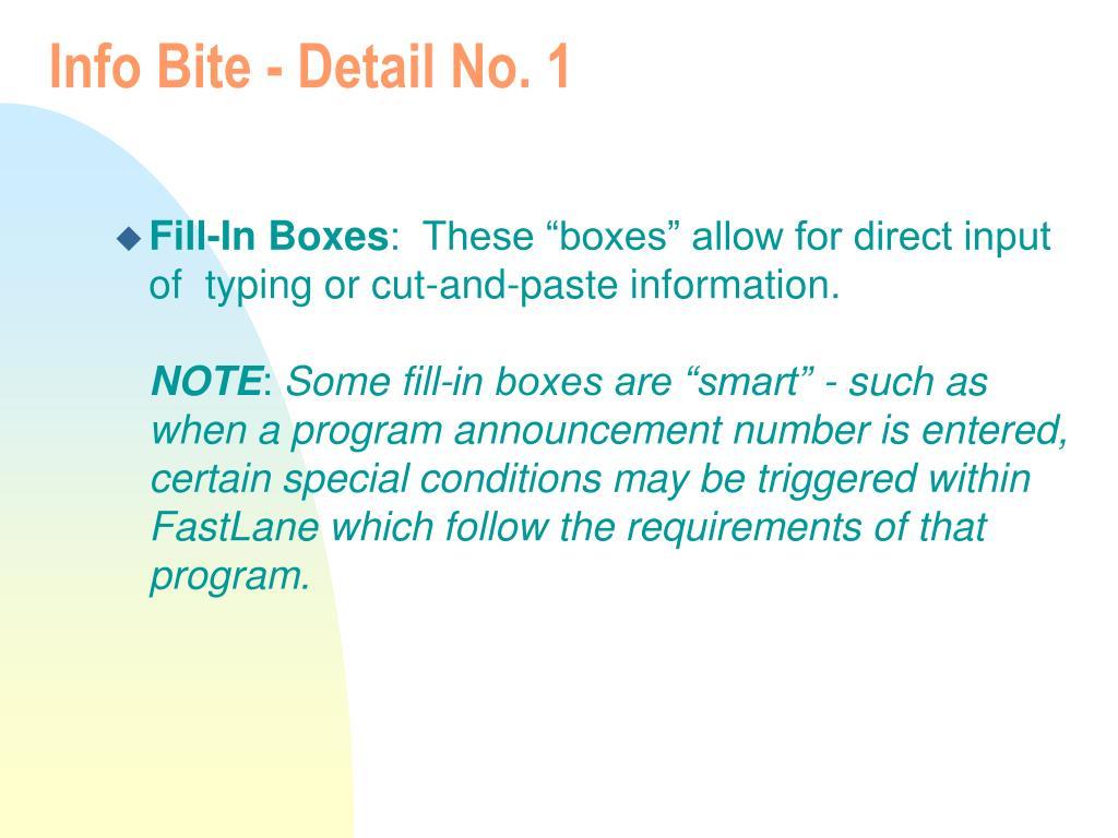 Info Bite - Detail No. 1