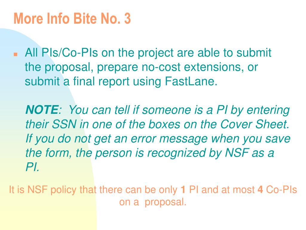 More Info Bite No. 3