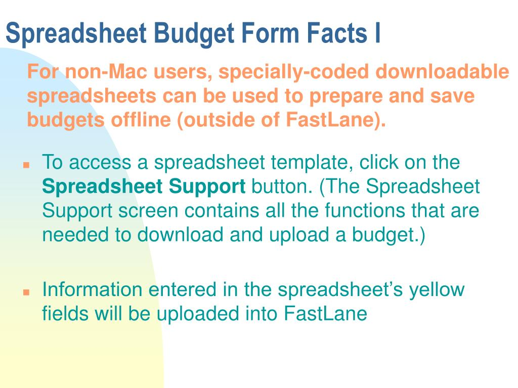 Spreadsheet Budget Form Facts I