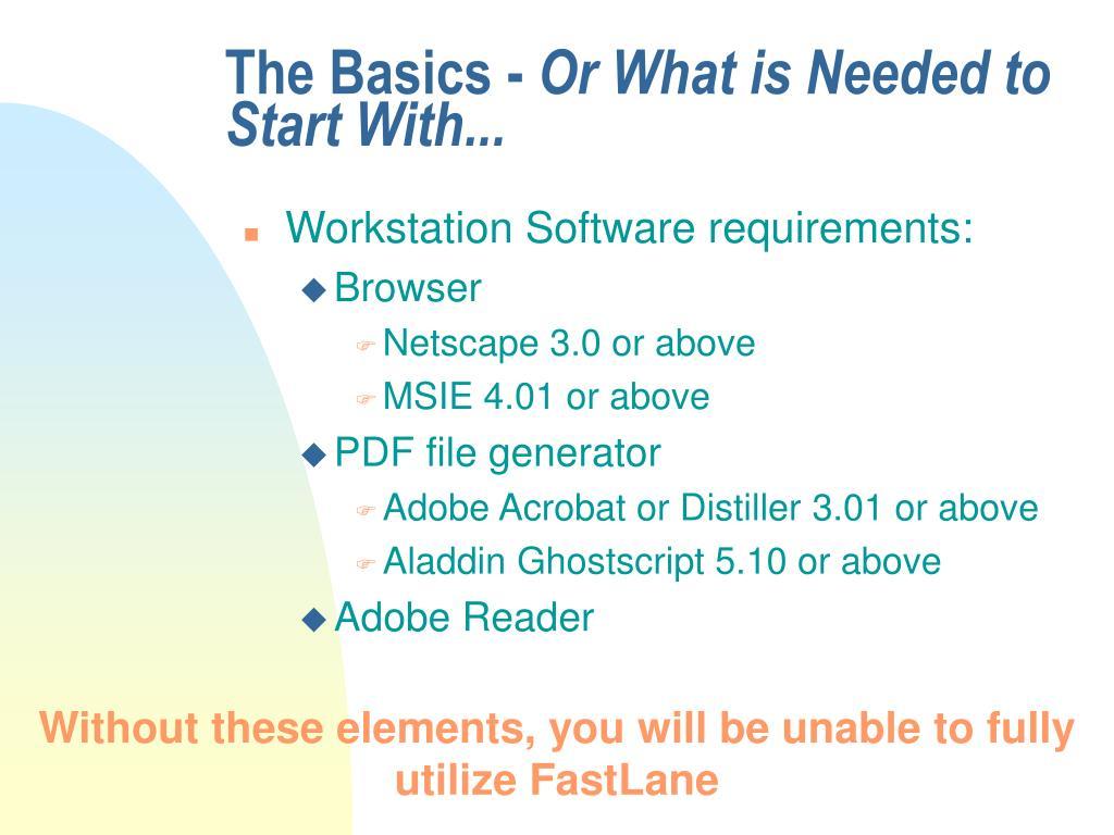 The Basics -