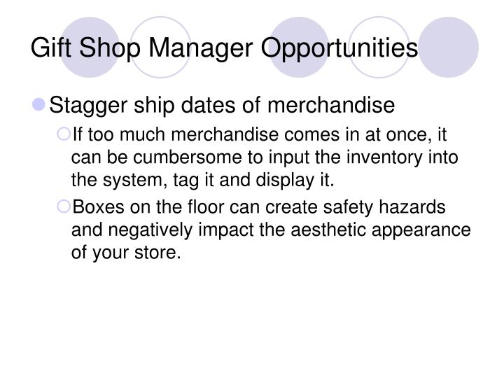 Gift Shop Manager Opportunities