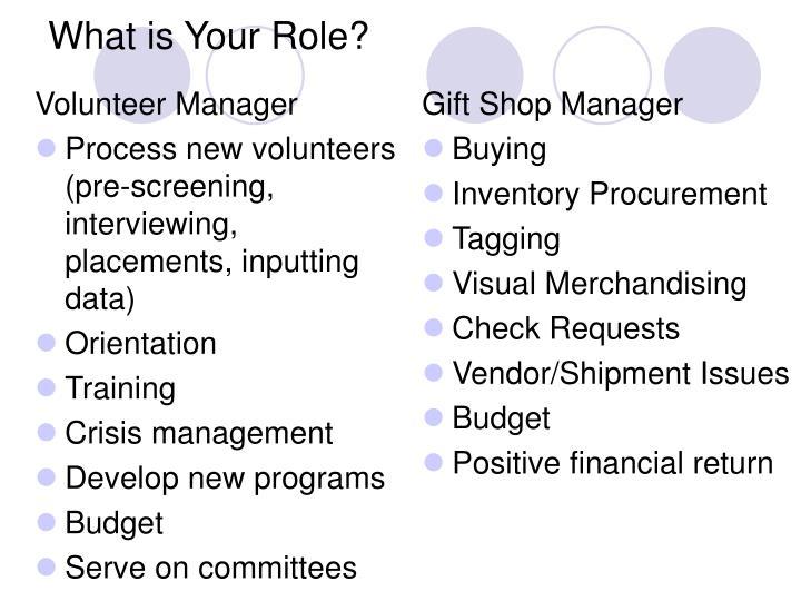 Volunteer Manager