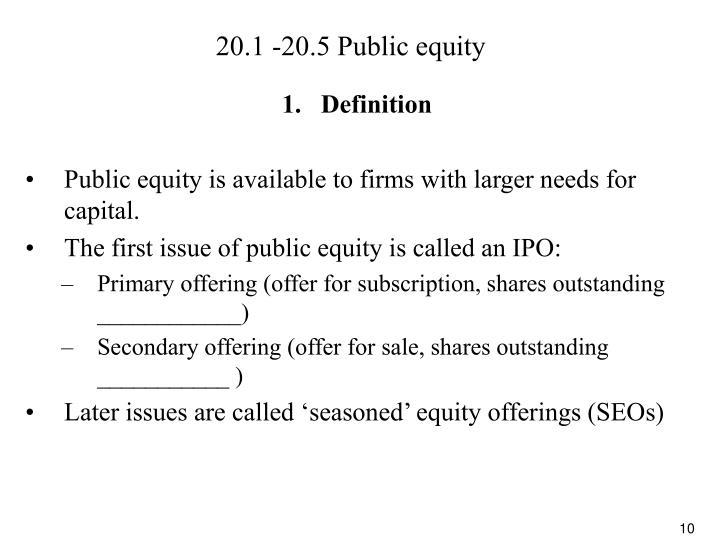 20.1 -20.5 Public equity