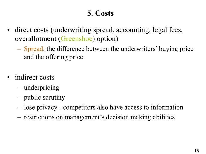 5. Costs