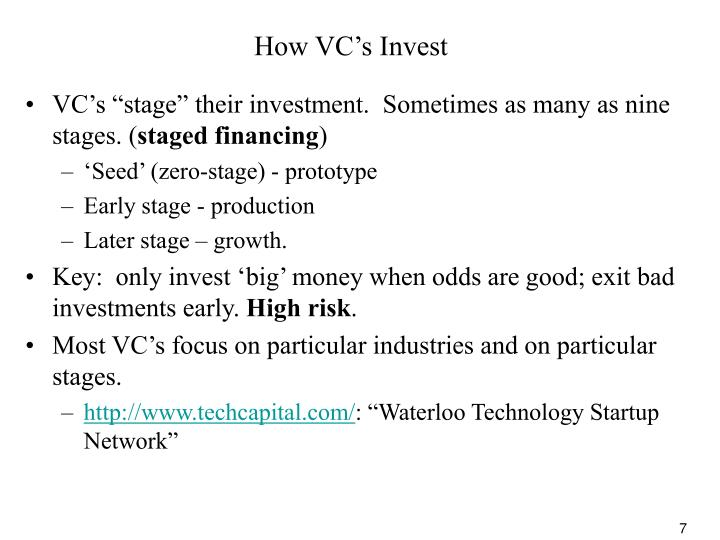 How VC's Invest