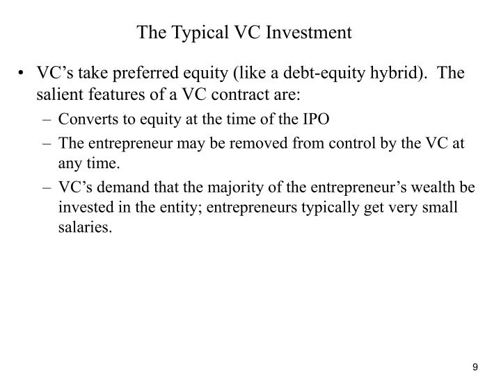 The Typical VC Investment