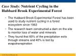 case study nutrient cycling in the hubbard brook experimental forest
