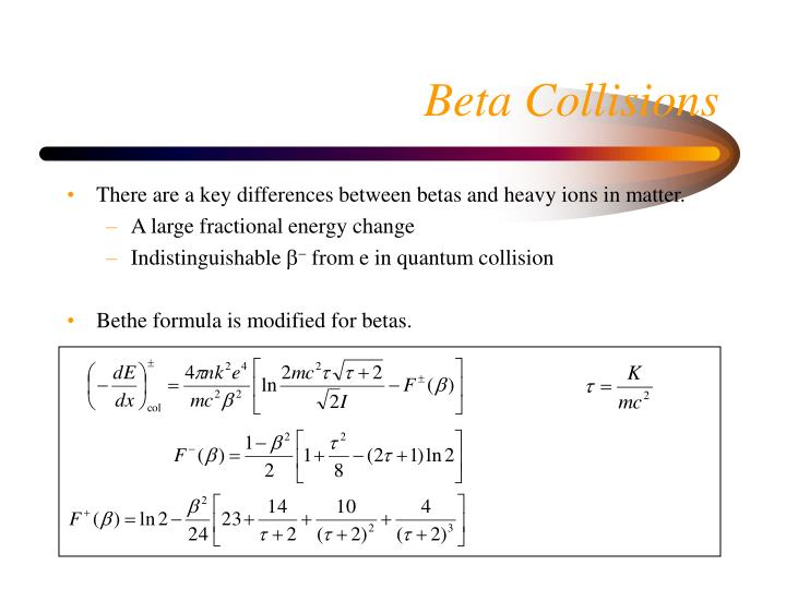 There are a key differences between betas and heavy ions in matter.