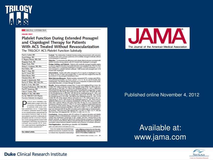 Published online November 4, 2012