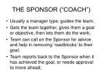 the sponsor coach