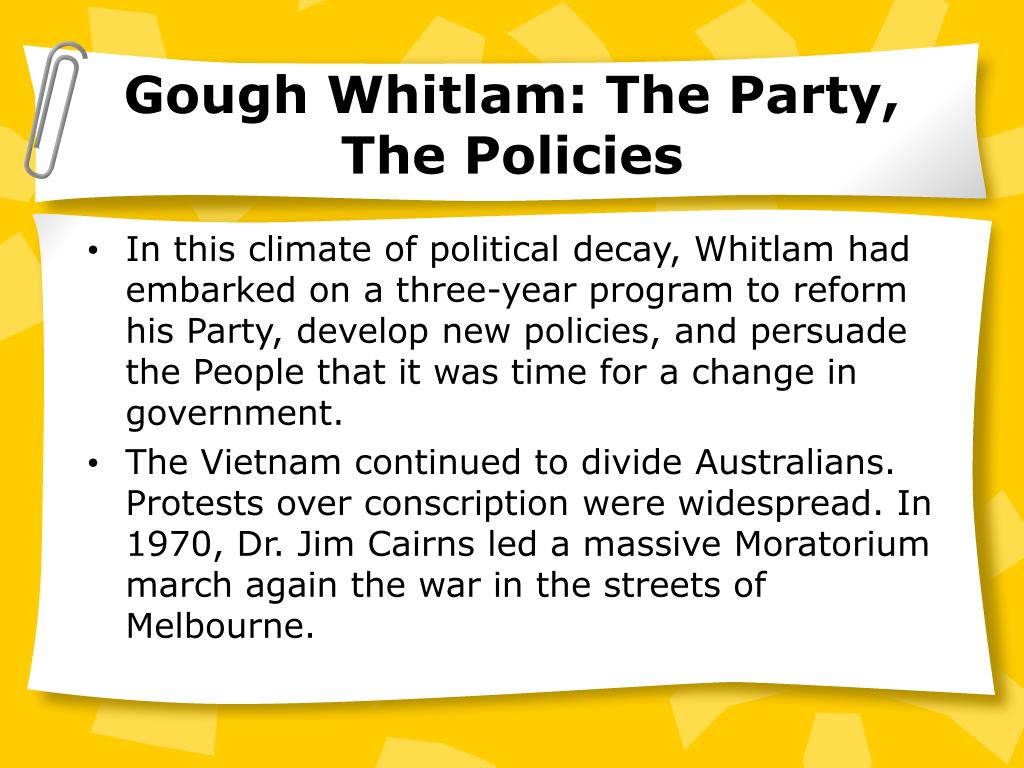 Gough Whitlam: The Party,