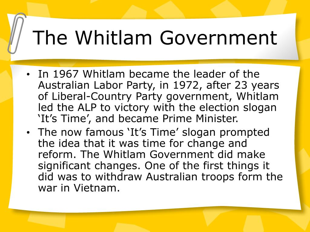 The Whitlam Government
