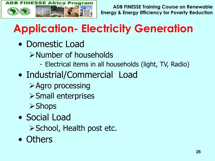 Application- Electricity Generation