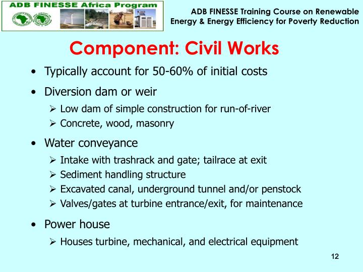 Component: Civil Works