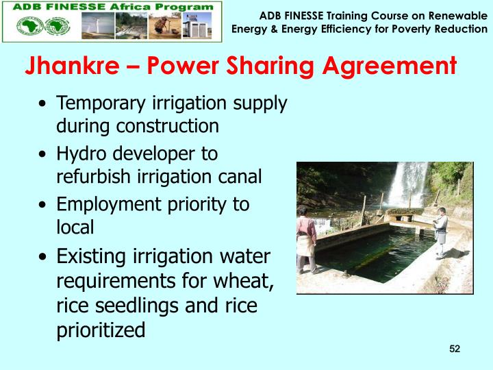 Jhankre – Power Sharing Agreement