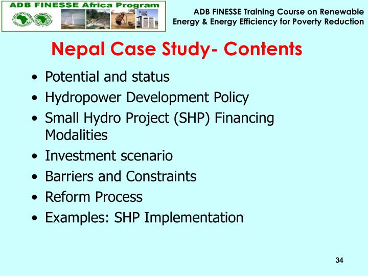 Nepal Case Study- Contents