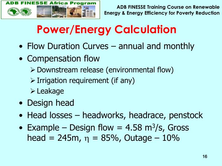 Power/Energy Calculation