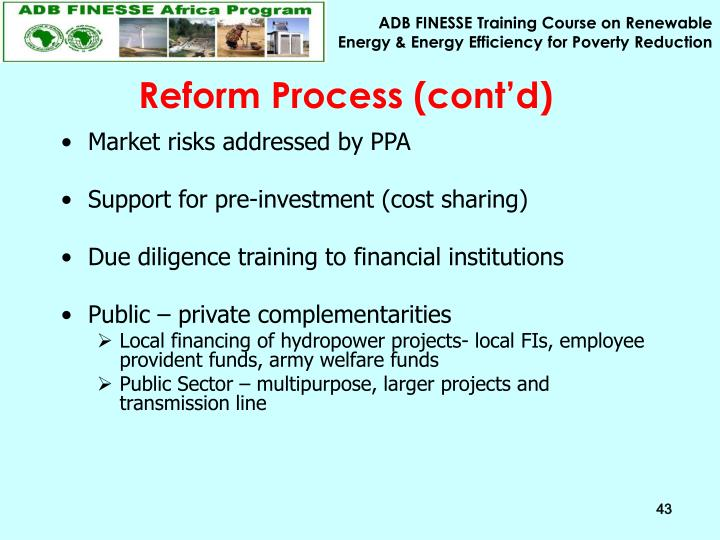 Reform Process (cont'd)