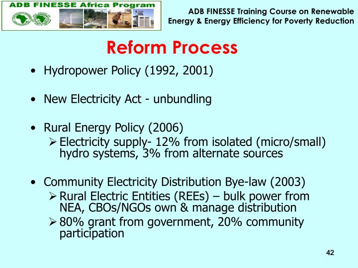 Reform Process