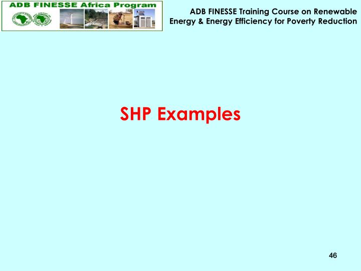 SHP Examples