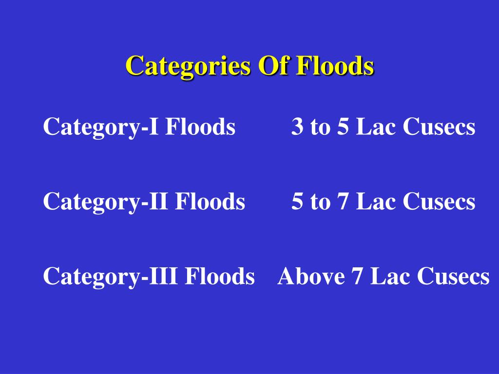 Categories Of Floods