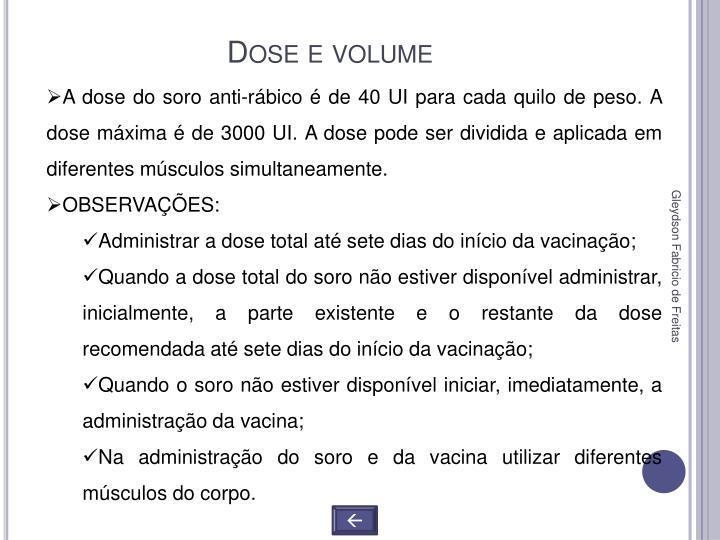 Dose e volume