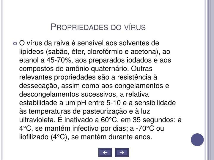 Propriedades do vírus